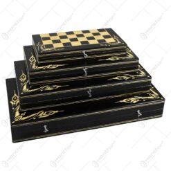 Set 4 cutii sah realizata din lemn - Diferite marimi