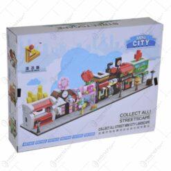 Set jucarie constructii realizat din metrial plastic - Mini City