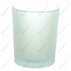 Candela realizata din sticla mata - Rotund (Model 1)