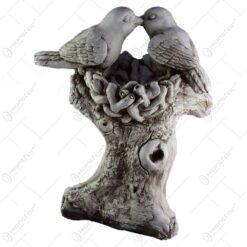 Statuie pentru gradina - Doua pasari pe copac