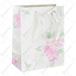 Punga cadou mic cu design fir de floare