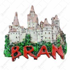 Magnet de frigider realizat din rasina - Castelul Bran (Model 1)