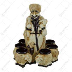 Set pentru vin realizat din ceramica - Design Ciobanas (Model 3)