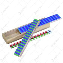 Penar din lemn cu capac culisabil si 4 creioane - Diverse modele