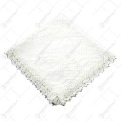 Servetel traditional din bumbac 40x40 CM Alb