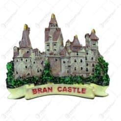 Magnet de frigider realizat din rasina - Design Castelul Bran (Tip 1)