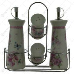 Oliviera 4 piese din ceramica cu suport metalic - Spring