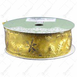 Panglica decorativa pentru Craciun - Design cu fulgi de nea - 2 modele
