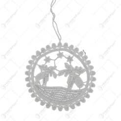 Decoratiune crosetata de agatat pentru Craciun - Design cu stelute