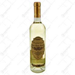 "Vin alb 0.75l cu eticheta personalizata din pluta - Design ""Pentru cel mai bun bunic"""
