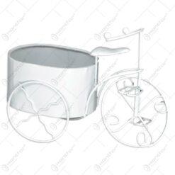 Suport pentru flori realizat din metal in forma de bicicleta - Diverse modele (Model 3)