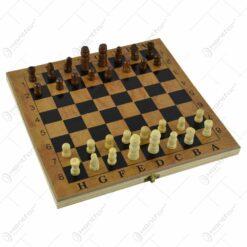 Joc sah/table realizat din lemn (Model 7)