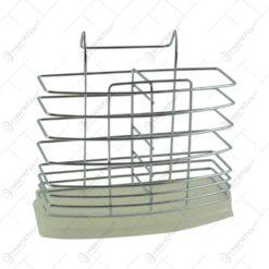 Suport pentru tacamuri realizat din inox si plastic (Model 2)