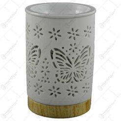 Candela pentru aromaterapie realizata din ceramica - Design fluturi
