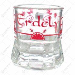 Pahar realizat din sticla pentru lichior/snaps - Design Erdely