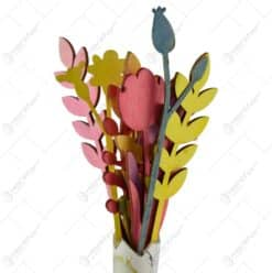 Ornament decorativ realizat din lemn - Flori - Diverse modele (
