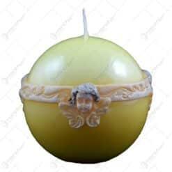 Lumanare craciun in forma de glob - Design Cherub (Model 2)