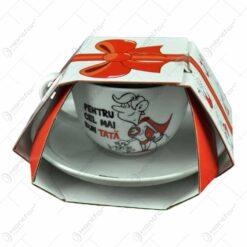 Ceasca cu farfurie - Pentru cel mai bun tata - Funny Mug