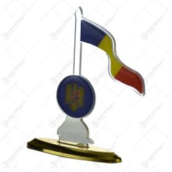 Ornament realizat din plastic in forma de steag - Romania