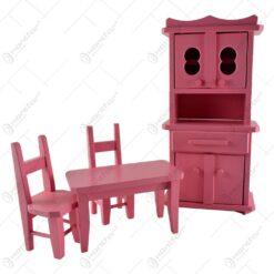 Mobilier roz de bucatarie