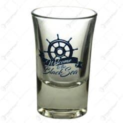 "Pahar realizat din sticla - ""Welcome to the Balck Sea"" (Model 1)"