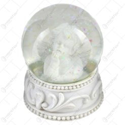 Glob de zapada pentru Craciun realizat din sticla - Design Ingeras (Model 6)