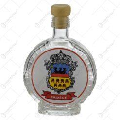 """Sticla realizata in forma de plosca cu dop din cauciuc - """"Erdely"""""""