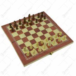 Joc sah/table realizat din lemn (Model 4)