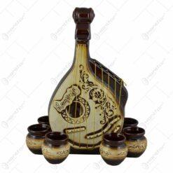 Set pentru vin realizat din ceramica - Design Bandura