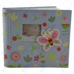 Album pentru fotografii - Design Baby cu flori si fluturasi - 2 modele Baiat/Fata
