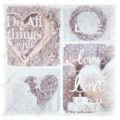 Tablou pentru perete cu mesaje si inscriptii - Desing Love