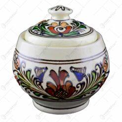 Zaharnita din ceramica de Corund pictat cu motive traditionale in diferite culori - Mare