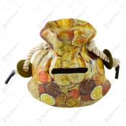 Pusculita ceramica mic in forma de sac cu design 500EUR
