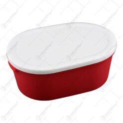 Cutie cu capac pentru alimente realizata din material plastic (1.2 L)