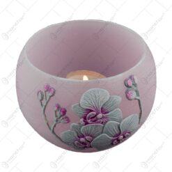 Lumanare tip lampion - Design Orchid Velvet