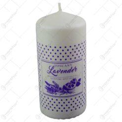 Lumanare parfumata cilindrica - Lavanda - 2 culori (Model 2)