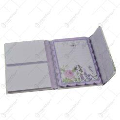 Notes multifunctional pentru femei/fete - Desgin cu lavanda