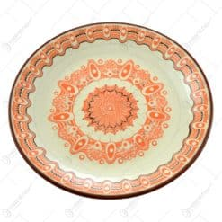 Farfurie realizata manual din ceramica bulgareasca - Design Traditional (Diverse culori)