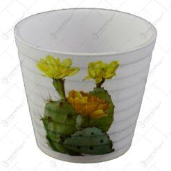 Ghiveci realizat din ceramica - Design cu cactus - Diverse modele