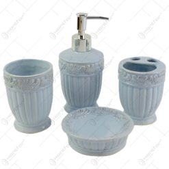 Set 4 accesorii pentru baie realizate din ceramica - Diverse culori (Model 2)