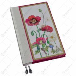 Notes pentru femei/fete - Design cu flori de mac