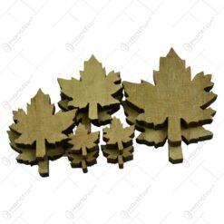 Frunza decorativa de artar realizat din lemn (Natur)
