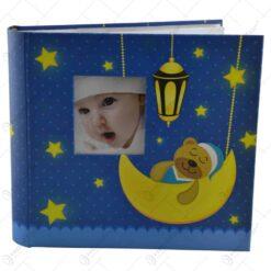 Album pentru fotografii - Design Baby cu ursulet si luna - 2 modele Baiat/Fata