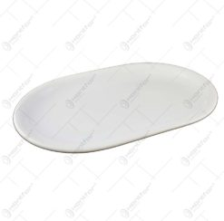 Platou pentru servire in forma ovala realizat din ceramica - 2 culori