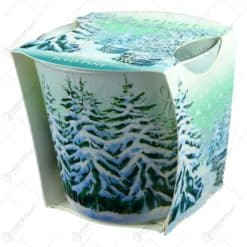 Lumanare parfumata de Craciun in pahar - Bright Christmas - Iced Pine