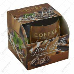 Lumanare parfumata in pahar de sticla - Diverse arome de cafea (Model 3)