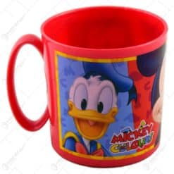 Cana realizata din material plastic utilizabila in cuptorul cu microunde - 360 ml - Design Mickey Mouse&Pluto