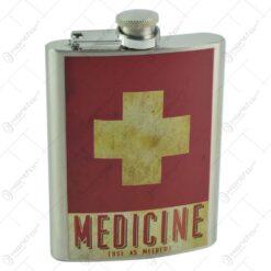 Plosca realizata din metal - Design Medicine