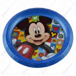 Farfurie intinsa realizata plastic - 21 cm - Design Mickey Mouse