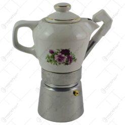 Espressor cafea pentru aragaz - Pentru 2-4 cesti - Design cu flori